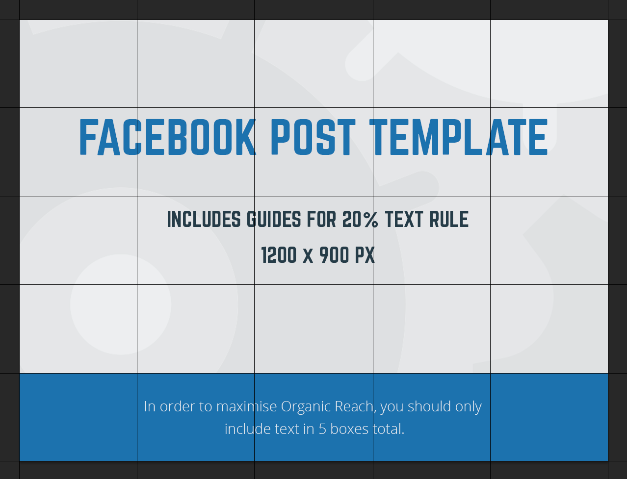 facebook post template mock up