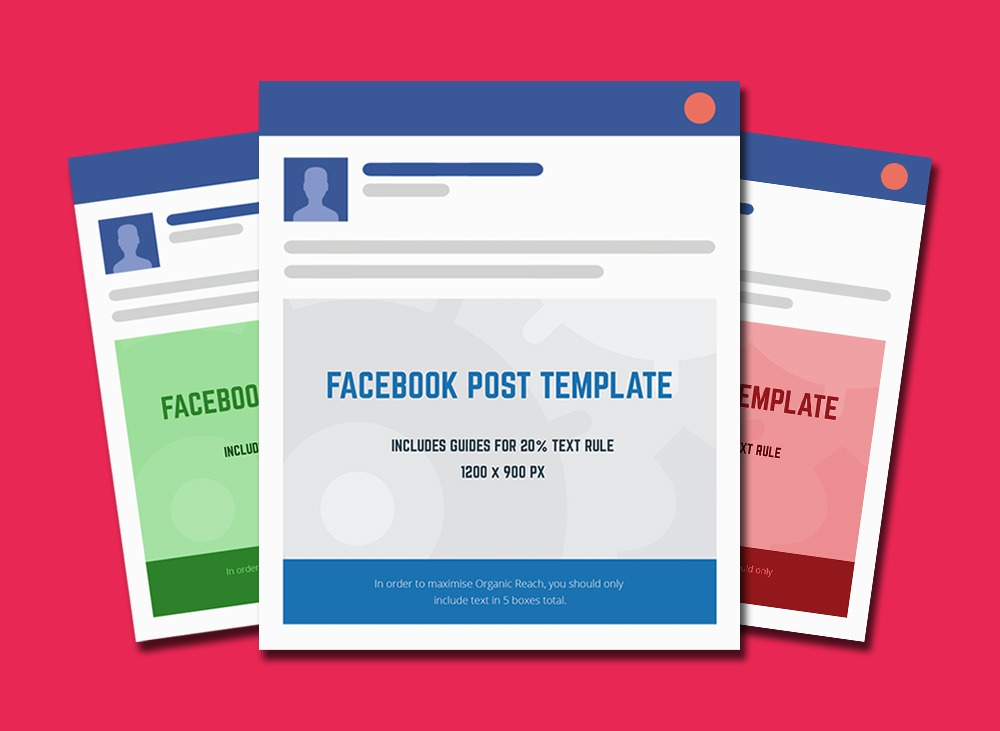 facebook post template sidebar